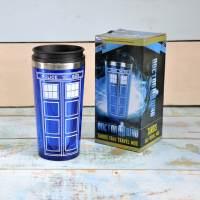 фото Стакан Doctor Who Tardis с крышкой металлический (500мл)