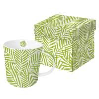 фото Кружка в подарочной коробке Palm Leaves 350 мл светло-зелёная