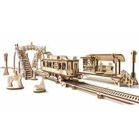 фото 3D-пазл UGEARS Трамвайная линия