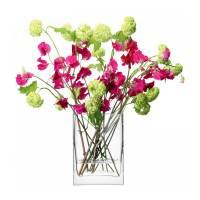 фото Ваза прямоугольная Flower 22 см