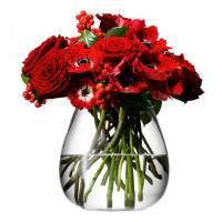 фото Ваза округлая низкая Flower 17 см