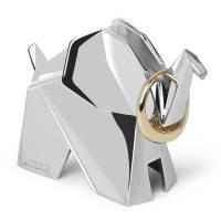 фото Держатель для колец Origami слон хром