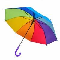 фото Зонт-трость «Радуга» фиолетовая ручка