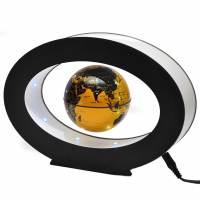фото Левитирующий глобус в овале золотой
