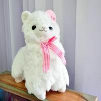 фото Альпака с розовой шляпкой 30 см