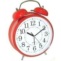 фото Часы Будильник ГИГАНТ красного цвета с подсветкой