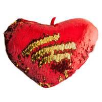 фото Подушка хамелеон Сердце