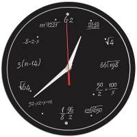 фото Часы Забавная Математика Стеклянные