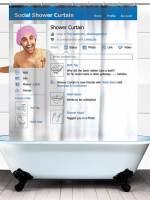 фото Занавеска в душ Социальная сеть180х180cm