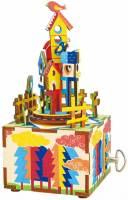фото Деревянный 3D конструктор - музыкальная шкатулка Robotime «Castle in the sky» - AM307