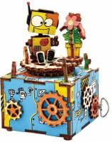 фото Деревянный 3D конструктор - музыкальная шкатулка Robotime «Machinarium» - AM305