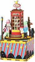 фото Деревянный 3D конструктор - музыкальная шкатулка Robotime «Phone Booth» - AM401