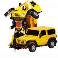 фото Радиоуправляемый робот трансформер Jeep Rubicon Yellow 1:14 - 2329PF